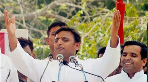 "Addressing a rally in Mahrajganj, the Uttar Pradesh Chief Minister cautioned the public against the ""saffron brigade's tricks of fanning rumour""."