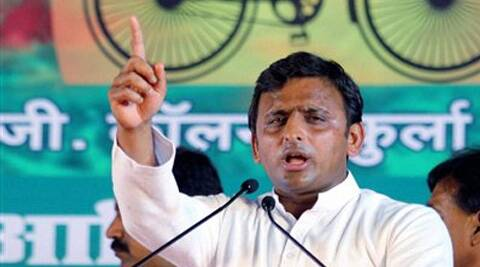 Akhilesh accused BJP of blowing the issue of land deals out of proportion. (PTI)