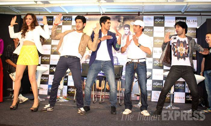 Jimmy Shergill, who is also a part of the film, joins the youngsters for a small jig on stage. (Photo: Varinder Chawla)