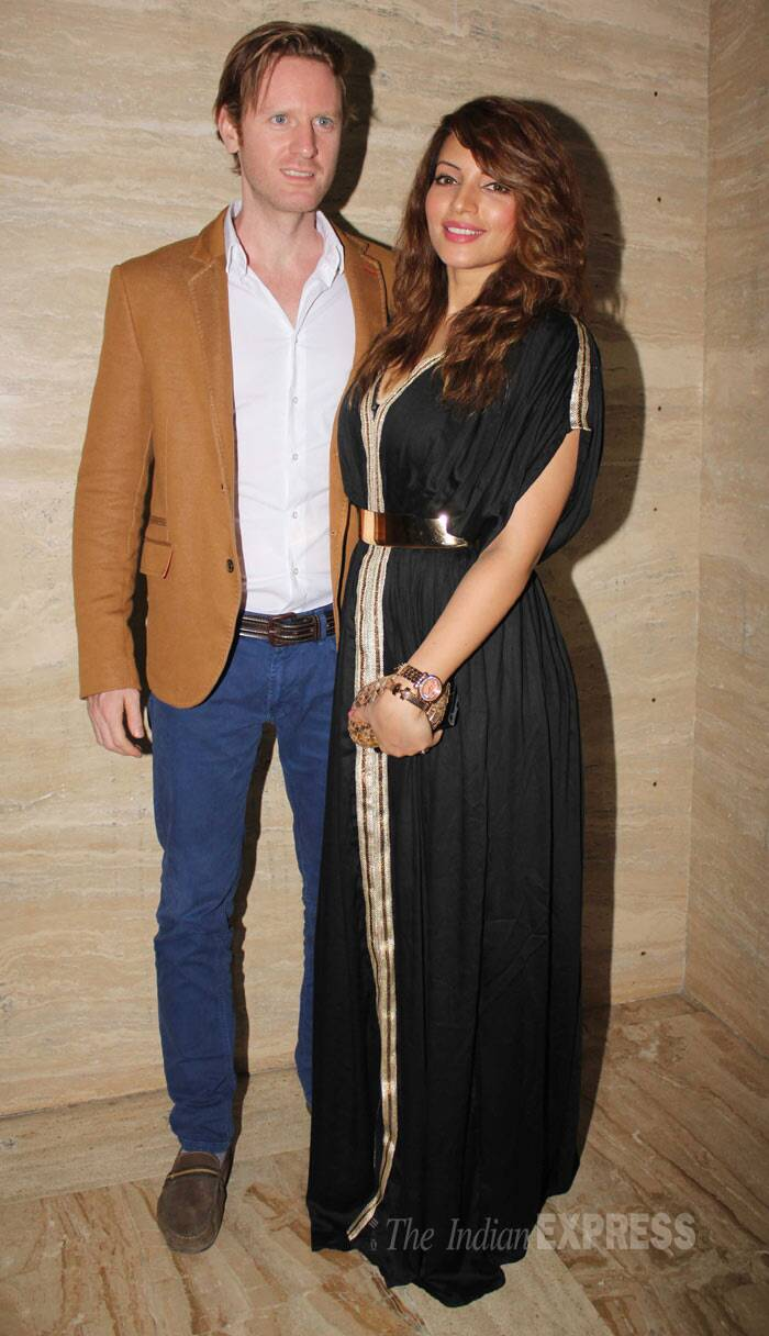 Actor and musician Alexx O'Nell and actress girlfriend Shama Sikander made a lovely pair. (Photo: Varinder Chawla)