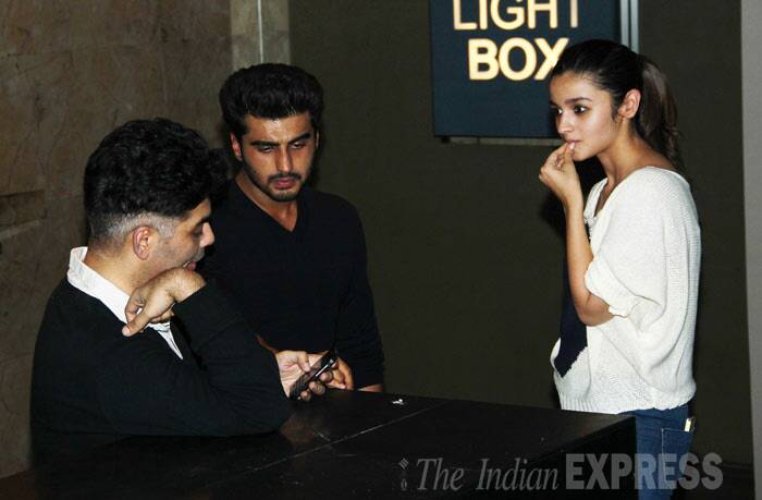 Karan has some interesting info for both Alia and Arjun, We guess! (Photo: Varinder Chawla)