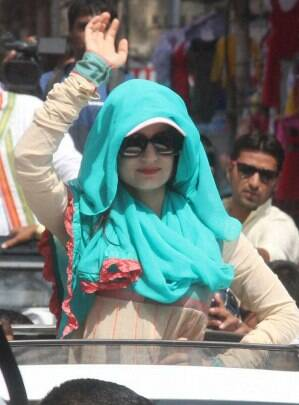 BJP candidate Hema Malini continues campaigning