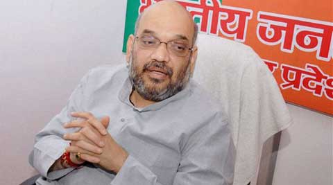 Bharatiya Janata Party (BJP) leader Amit Shah at the party office in Lucknow on Friday after the Election Commission lifted the ban on his public meetings. (PTI)