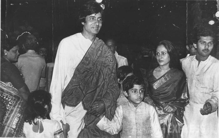 "Jaya Bachchan once said she doesn't care what the world thinks of her as long as her children have faith in her. ""My children are more important to me than even my husband (Amitabh Bachchan).""<br />Big B holds the hand of his kids while Jaya follows them. (Express archive photo)"
