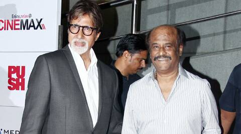 Big B revealed on Twitter that he will be giving his voice to the Hindi version of a Rajinikanth film.