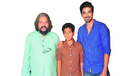 Amole Gupte, Partho Gupte and Saqib Saleem