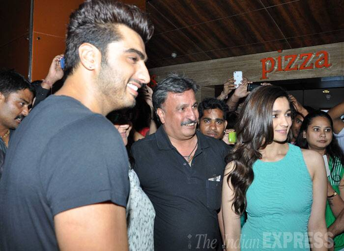 Alia too obliged her fans with a photo. Arjun also joined them. (Photo: Varinder Chawla)