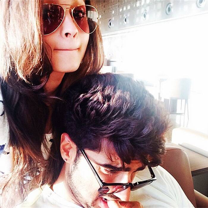 "Arjun Kapoor didn't look interested in this selfie though. ""Okay he's clearly not enjoying my selfie session!"" captioned Alia Bhatt."