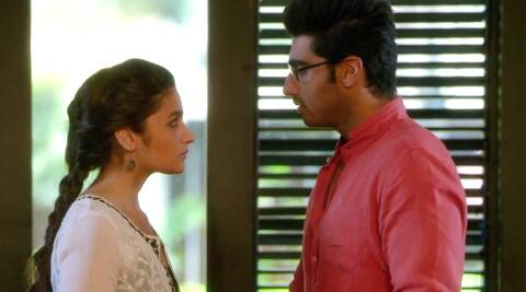 In the video, Ananya (Alia Bhatt) and Krish (Arjun Kapoor) look lovesick and mournful as they try to brave a future without the other.