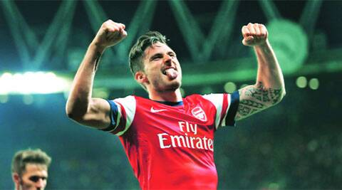 Giroud scored the third goal in the 3-0 win over Newcastle (Reuters)