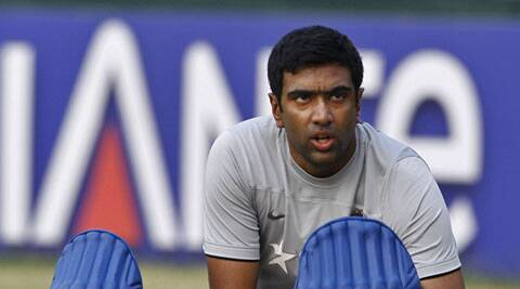 India's Ravichandran Ashwin prepares his pad during a training session ahead of their ICC Twenty20 Cricket World Cup semifinal match against South Africa in Dhaka. (AP)