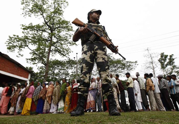 Tezpur recorded 73 per cent voting, Jorhat 75 per cent, Lakhimpur 67, Dibrugarh 70 and Koliabor 72 per cent, the sources said.  (Reuters)