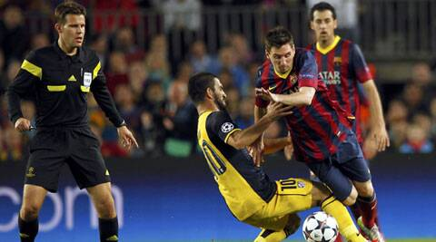 Atletico Madrid's Arda Turan will be missing out the team's Champions League quarter-final match against Barcelona. (Reuters)