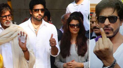 The Bachchans and Shah Rukh Khan cast their vote a few  hours before the Lok Sabha Polls in Maharashtra are scheduled to end.