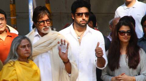 Bollywood's first family cast their vote a few few hours before the Lok Sabha Polls in Maharashtra are scheduled to end.