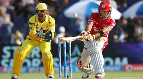 Glen Maxwell plays a cheeky reverse sweep off R Ashwin. (BCCI/IPL)
