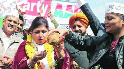 Savita Bhatti at Plaza in Sector 17, Chandigarh, on Sunday.  (Photo: Kamleshwar Singh)