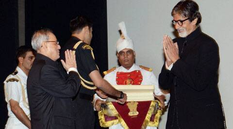 Big B was honoured as the President took out time from his busy schedule.