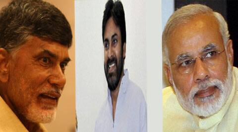 The TDP chief N Chandrababu Naidu and Jana Sena founder Pavan Kalyan, youngest brother of Union Minister Chiranjeevi, would take part in the meetings to be addressed by Modi.