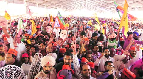 The saffron surge at rally