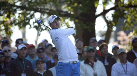 Sweden's Jonas Blixt hits his tee shot on the fourth hole during the first round of the Masters golf tournament on Thursday. (Reuters)