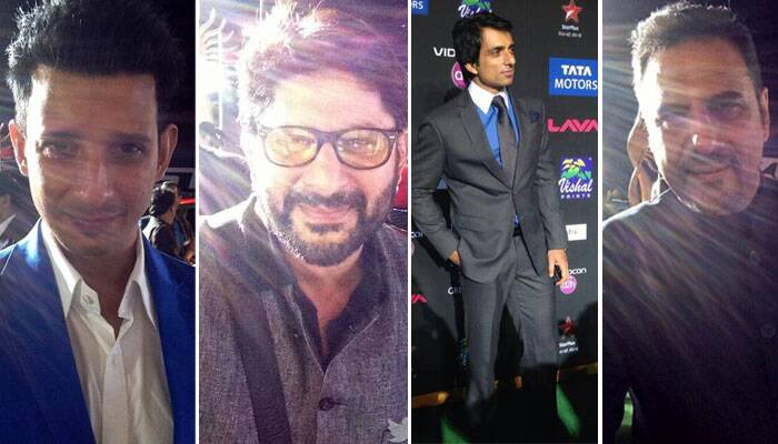 Bollywood's sexy men Sharman Joshi. Arshad Warsi, Sonu Sood and Boman Irani were a fine sight.(Twitter)
