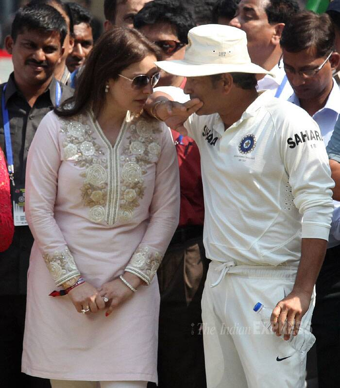 """Most important thing they did was to allow me to marry Anjali,"" Sachin Tendulkar said. (IE Photo: Prashant Nadkar)"