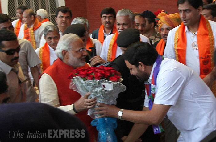 Narendra Modi filed his nomination on Wednesday (April 9) from the Vadodara Lok Sabha seat making a pitch for 'good governance' and emphasising his links with the region. (IE Photo: Bhupendra Rana)