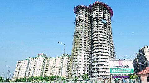 Construction at the two towers (T-16 and T-17) has been completed till the 21st and 17th storeys, respectively. The developer has sold nearly 600 flats in the two towers, but there are no occupancies so far. (Gajendra Yadav)