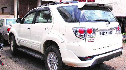 The Fortuner at Sector 17 police station. (Express)
