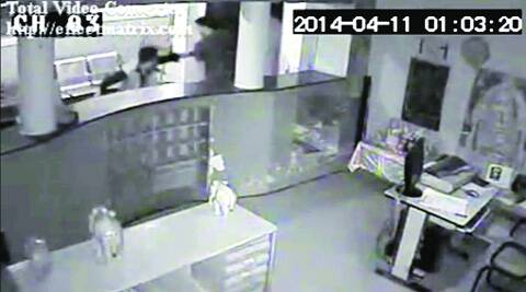 CCTV grab of an assailant