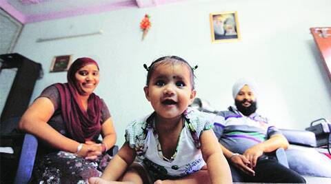 Parents and sister of Khushpreet at their Sector 45 residence in Chandigarh on Wednesday. Jaipal Singh