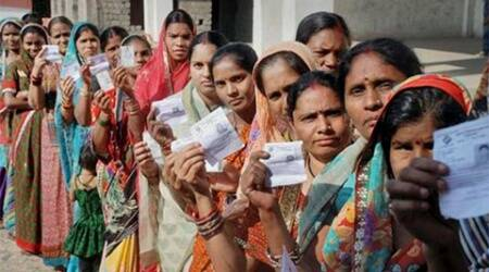Polling commenced in three Lok Sabha seats  Kanker, Rajnandgaon and Mahasamund - at 7 AM, an election official said.
