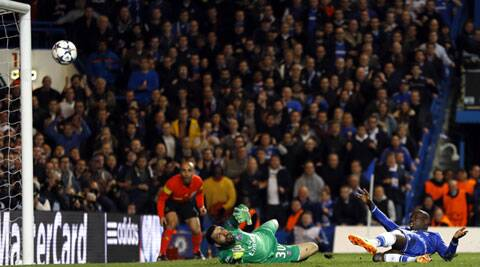 Demba Ba scored the crucial second goal against Paris Saint-Germain. (Reuters)