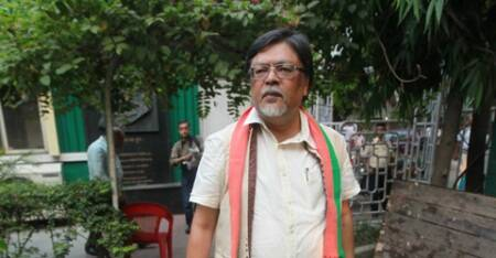 Chandan Mitra, BJP Lok Sabha candidate from Shrirampur, Hoogly, at Kolkata press club to meet the press on Saturday.