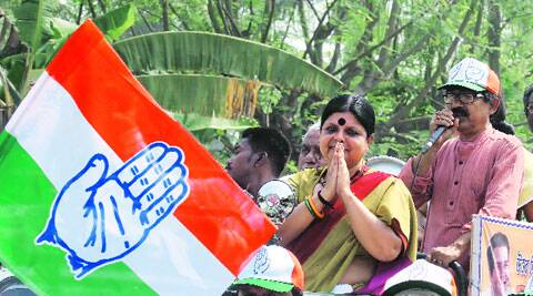 Deepa Dasmunsi on campaign and her brother-in-law Pabitra Ranjan, now in Trinamool Congress.