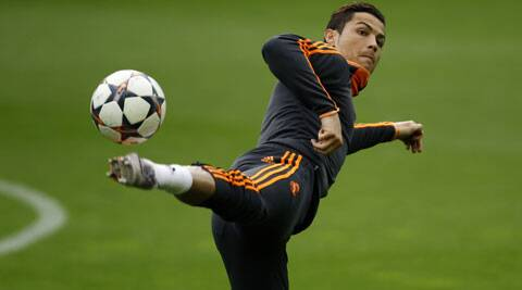 Ronaldo picked up a thigh strain in a training session prior to Real Madrid's game against (Reuters)