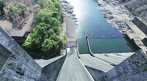 Civic officials say water levels at the Modak Sagar dam dropped while carrying out tunnel work there. express