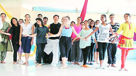 Students at the sessions of Dance Dialogues.