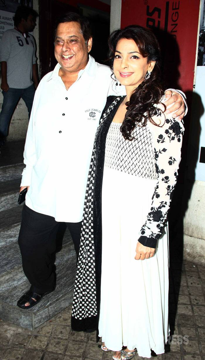 Director David Dhawan looked happy as he posed for a picture along with his 'Deewana Mastana' lead actress Juhi Chawla. (Photo: Varinder Chawla)