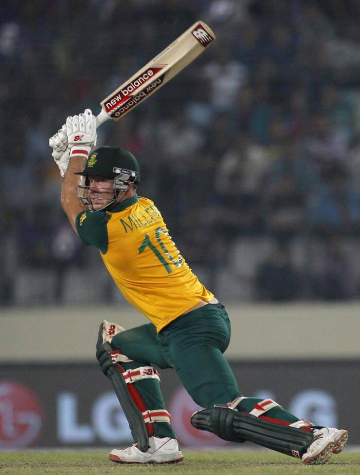 David Miller, who didn't get much time to bat, did the job for his skipper as he helped South Africa finish on a high after they lost Faf and AB in quick succession (Reuters)