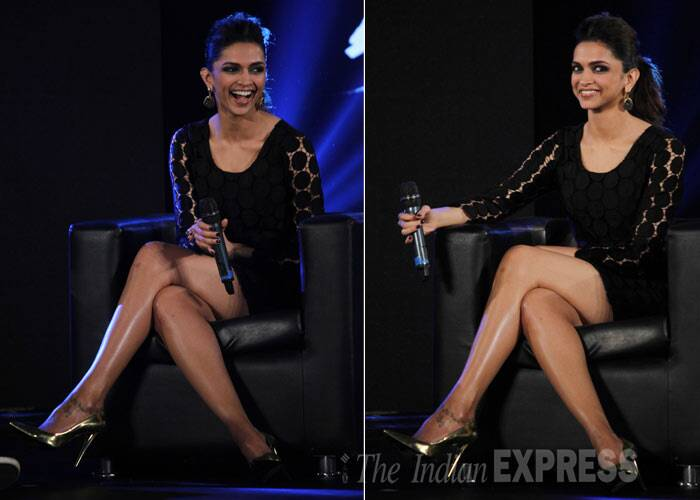 Don't miss a look at the diva's sexy long legs. (Photo: Varinder Chawla)