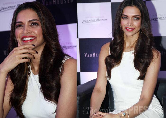 Deepika, who said Rekha and Akshay Kumar were the best dressed actors of Bollywood, finished off her look with a bright red lipcolour. (Photo: Varinder Chawla)