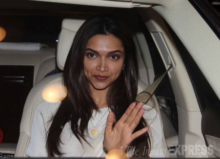 Deepika Padukone, who is likely to skip her date with the ballot box on April 24, was wearing a white top with maroon lipcolour. She also gave the paparazzi a wave. (Photo: Varinder Chawla)