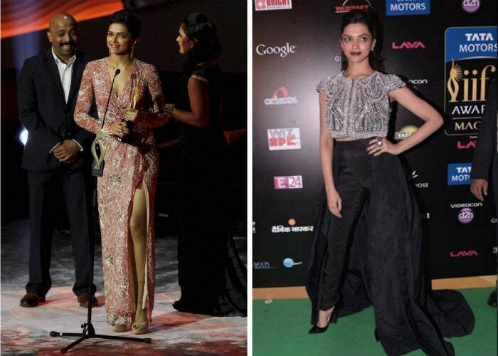 Though she missed the green carpet, Bollywood Queen Deepika Padukone as always sizzled in a beaded Naeem Khan gown with a sexy thigh-high slit at Macau. She also wore a creation by the same designer for the IIFA Rocks that year.