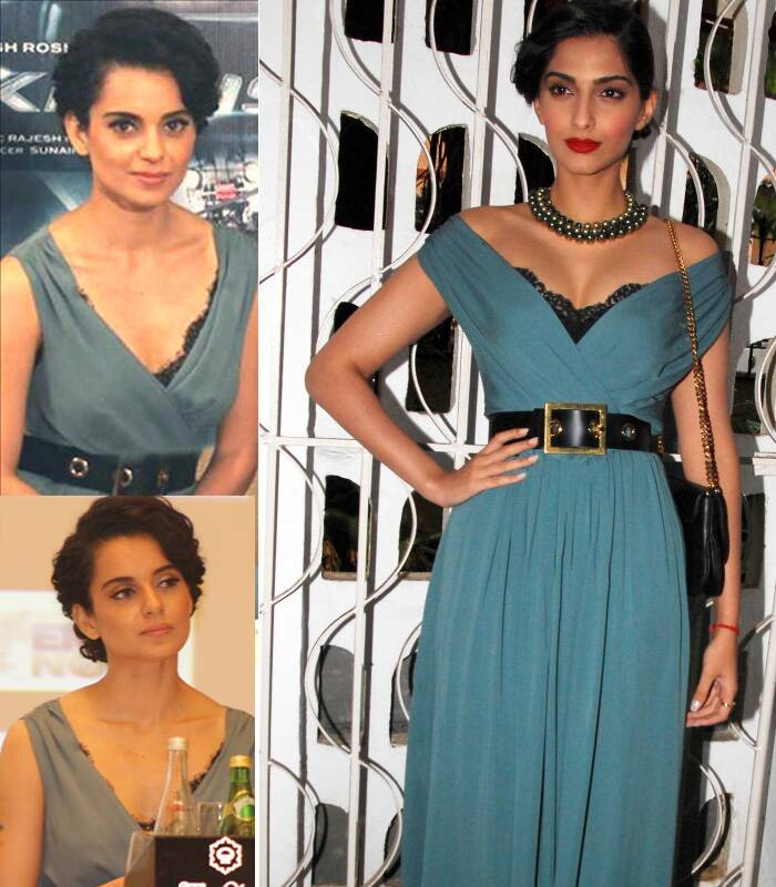 Bollywood fashionistas Sonam Kapoor and Kangana Ranaut tried their luck with the grey Gucci number. Sonam Kapoor, who wore it to a magazine launch got our vote hands down, while Kangana sported it at a promotional event in Dubai.
