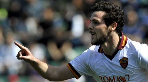 AS Roma's Mattia Destro scored a magnificent hat-trick to guide his team to a 3-0 win over Caligari on Sunday. (AP)