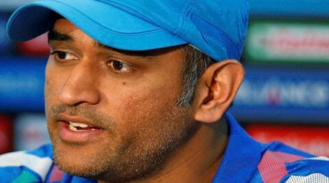 MS Dhoni at the media conference on Saturday. (AP)
