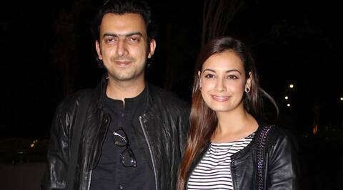 """Officially engaged. #NYC,"" Dia Mirza tweeted."