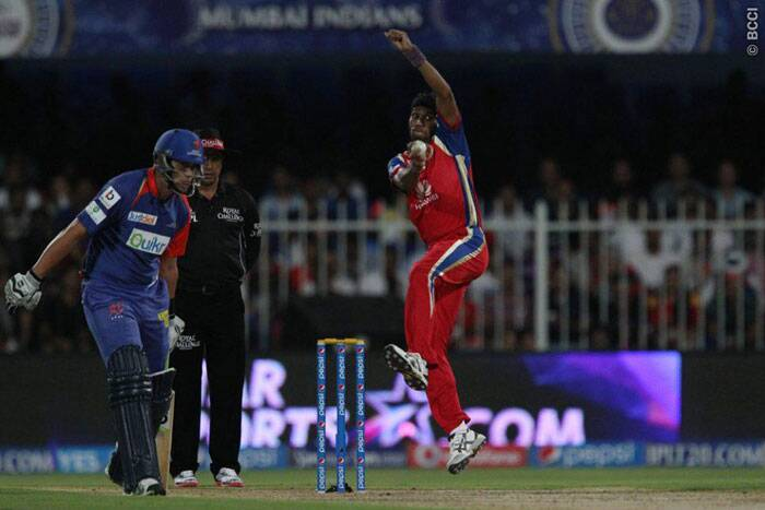 Dinda, who has kept for the death, didn't impress as he was trying too many things in the middle. His slower ones were easily picked by both Duminy and Taylor, who accelerated in the last five (Photo: BCCI/IPL)